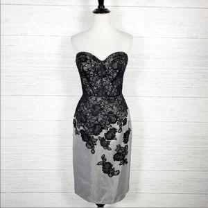 Truly Zac Posen • Lace Strapless Cocktail Dress 6